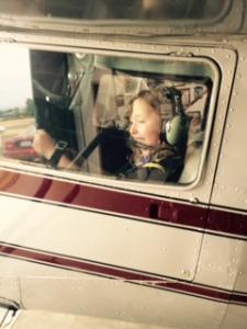Lily Playing Pilot!