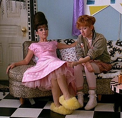 Molly Ringwald (R) in the classic  80s movie Pretty in Pink!