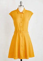 Sweet Sandy-Golden yellow dress by Modcloth.