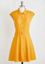 Sweet Sandy-Golden yellow dress by Modcloth.