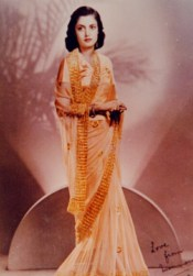 Indian Saree made with chiffon fabric